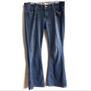 Paige Bell Canyon Mid Rise Flare Jeans 31 Petite